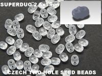 SuperDuo 2.5x5mm Matte Crystal - 10 g