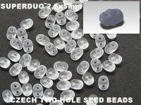 SuperDuo 2.5x5mm Matte Crystal - 10 g