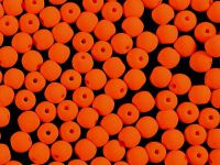 Round Beads Neon Orange 4 mm - 40 sztuk