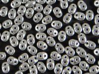 SuperDuo 2.5x5mm Matte Metallic Aluminium - 10 g