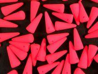 Spike Beads Neon Pink 13x5 mm - 10 sztuk