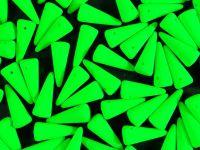 Spike Beads Neon Green 13x5 mm - 10 sztuk
