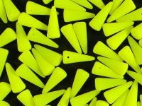 Spike Beads Neon Lemon 13x5 mm - 10 sztuk