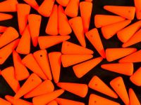 Spike Beads Neon Orange 13x5 mm - 10 sztuk