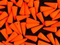Spike Beads Neon Orange 13x5 mm - 10 sztuk