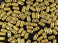Bricks 6x3mm Matte Metallic Aztec Gold - 20 sztuk
