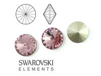 Rivoli Swarovski 8 mm Light Rose F - 2 sztuki