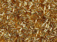TOHO Bugle 1-22C Silver-Lined Topaz - 10 g