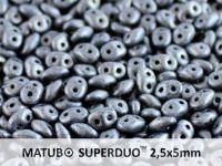 SuperDuo 2.5x5mm Matte Hematite - 10 g
