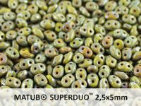SuperDuo 2.5x5mm Opaque Olivine - Picasso - 10 g