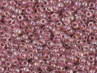 TOHO Round 8o-771 Inside-Color Rainbow Crystal - Strawberry Lined - 10 g