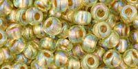 TOHO Round 6o-998 Gold-Lined Rainbow Lt Jonquil - 10 g