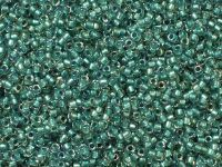 TOHO Round 15o-264 Inside-Color Rainbow Crystal - Teal Lined - 5 g