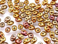 SuperDuo 2.5x5mm Matte Metallic Iris Lt. Gold - 10 g