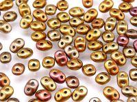 SuperDuo 2.5x5mm Matte Metallic Iris Lt. Gold - 10 g