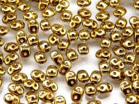 SuperDuo 2.5x5mm Yellow Gold - Crystal - 10 g