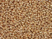 TOHO Round 15o-PF551 Permanent Finish - Galvanized Rose Gold - 5 g