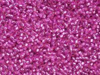 TOHO Round 15o-2107 Silver-Lined Milky Hot Pink - 5 g