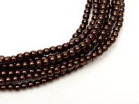 Perełki szklane ciemnobrązowe 2 mm - sznur