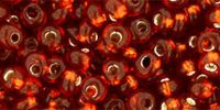 TOHO Magatama 3mm-2208 Silver-Lined Burnt Orange - 10 g