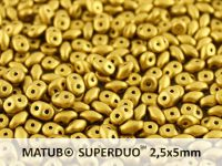 SuperDuo 2.5x5mm Matte Metallic Aztec Gold - 10 g