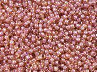 TOHO Round 11o-960 Inside-Color Lt. Topaz - Pink Lined - 10 g