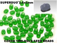 SuperDuo 2.5x5mm Matte Green - 10 g
