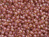 TOHO Round 8o-960 Inside-Color Lt. Topaz - Pink Lined - 10 g