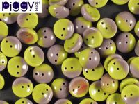 Piggy Beads Bicolor Purple-Olive 8x4 mm - 20 sztuk