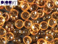 Piggy Beads Dark Topaz 8x4 mm - 20 sztuk