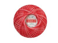 Kordonek cieniowany Ariadna 50x3 czerwony - 30g