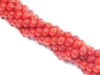 Koral czerwony kula 3 mm - sznur 40 cm