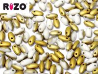 RIZO Beads Chalk White Amber Matted - 10 g
