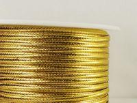 Sutasz chiński złoty metalizowany 3mm - 1 m