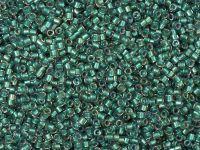 TOHO Treasure 12o-264 Inside-Color Rainbow Crystal - Teal Lined - 5 g