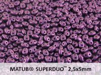 SuperDuo 2.5x5mm Metallic Suede Lavender - 10 g