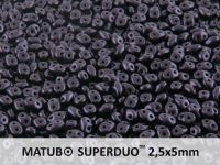 SuperDuo 2.5x5mm Metallic Suede Dark Purple - 10 g