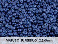 SuperDuo 2.5x5mm Metallic Suede Blue - 10 g