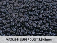 SuperDuo 2.5x5mm Metallic Suede Dark Blue - 10 g