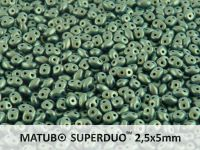 SuperDuo 2.5x5mm Metallic Suede Green - 10 g