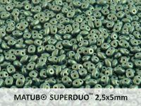SuperDuo 2.5x5mm Metallic Suede Green - 10 g