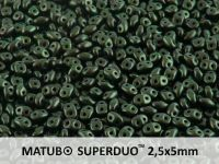 SuperDuo 2.5x5mm Metallic Suede Dark Green - 10 g