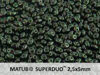 SuperDuo 2.5x5mm Metallic Suede Dark Green - 10 g