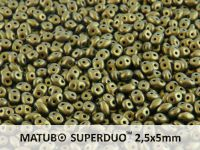 SuperDuo 2.5x5mm Metallic Suede Gold - 10 g