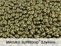 SuperDuo 2.5x5mm Metallic Suede Gold - 10 g