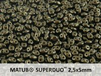 SuperDuo 2.5x5mm Metallic Suede Khaki - 10 g