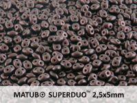 SuperDuo 2.5x5mm Metallic Suede Dark Violet - 10 g