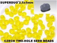 SuperDuo 2.5x5mm Matte Jonquile - 10 g