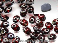 SuperDuo 2.5x5mm Siam Ruby - Picasso Silver - 10 g