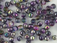 Round Beads Magic Violet - Grey 4 mm - opakowanie
